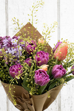 Vibrant Mothers Day Tulip Bouquet